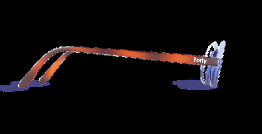 Lunettes de vue AFFLELOU FORTY bleu - Vue de côté