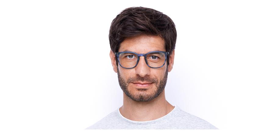 Óculos graduados homem MAXENCE BL (TCHIN-TCHIN +1€) azul - Vista de frente
