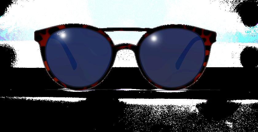 Lunettes de soleil HELIOS écaille - vue de face