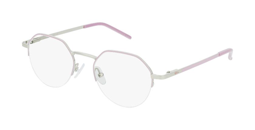 Óculos graduados senhora LAM PK (TCHIN-TCHIN +1€) rosa/dourado - vue de 3/4