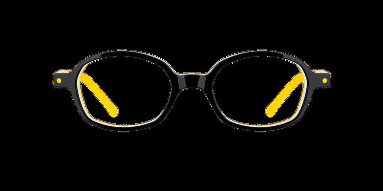 Óculos graduados criança CARL2 C01 preto/amarelo