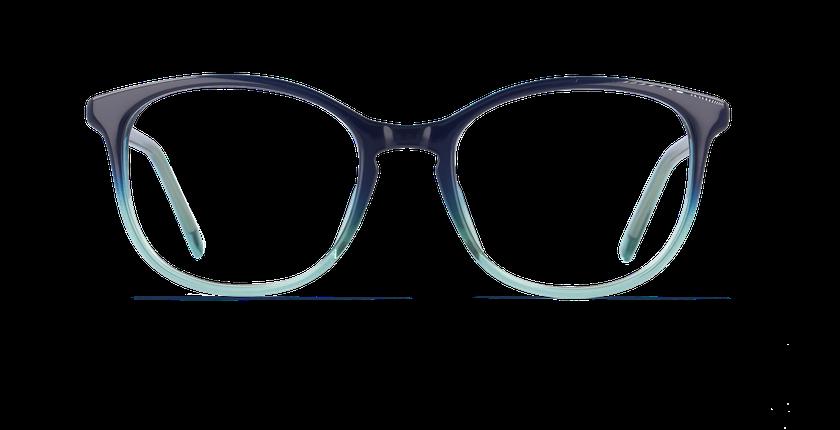 Lunettes de vue femme PAULINE bleu - Vue de face