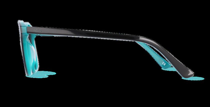 Lunettes de vue femme AMBRE bleu - vue de côté