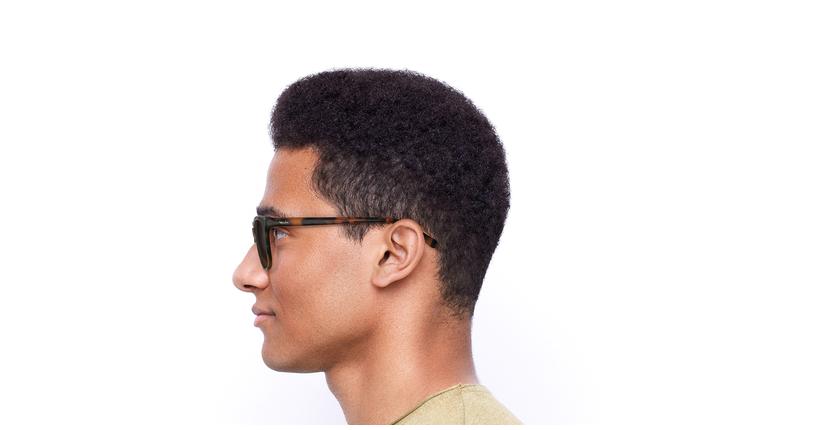 Óculos de sol homem Lee hv tartaruga - Vista lateral