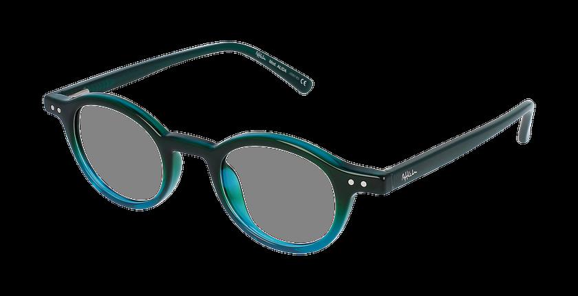 Óculos graduados senhora ALIDA GR (TCHIN-TCHIN +1€) verde - vue de 3/4