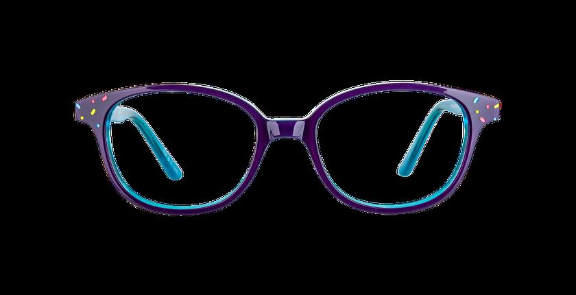 Gafas graduadas niños FLUFFY2 morado/azul - vista de frente