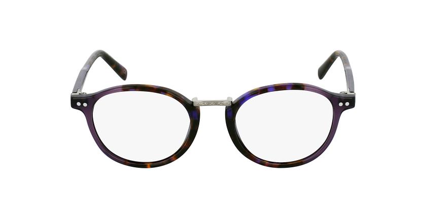 Lunettes de vue BRAHMS écaille/violet - Vue de face