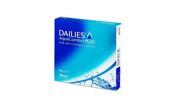 Lentilles de contact Dailies AquaComfort Plus 90L - Vue de face