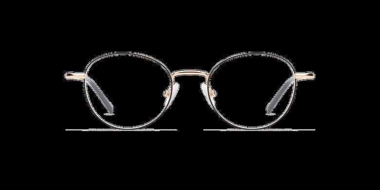 Lunettes de vue femme NELIA noir/doré
