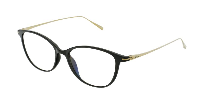 Óculos graduados senhora MAGIC 69 BK preto/dourado - vue de 3/4