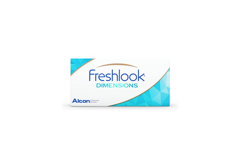 Lentilles de contact FreshLook Dimensions Aqua 2L (sans correction)