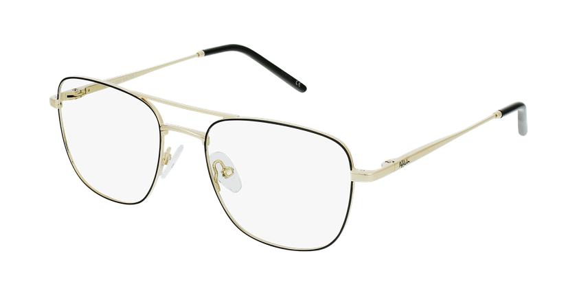 Óculos graduados homem WALTER BK (TCHIN-TCHIN +1€) preto/dourado - vue de 3/4