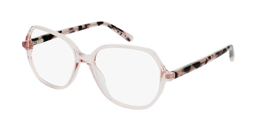 Óculos graduados senhora CONSTANCE PK (TCHIN-TCHIN +1€) rosa - vue de 3/4
