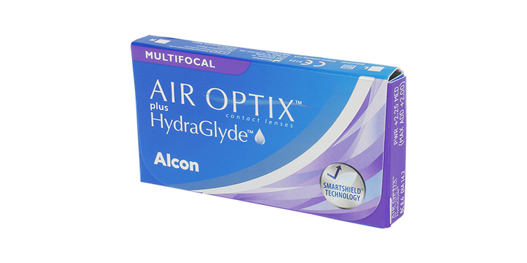 Lentilles de contact Air Optix Plus Hydraglyde Multifocal 6L