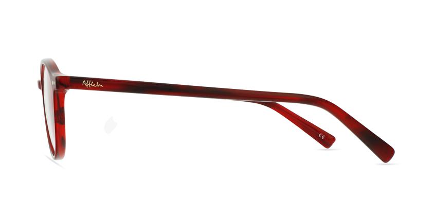Lunettes de vue homme RENAN rouge - Vue de côté