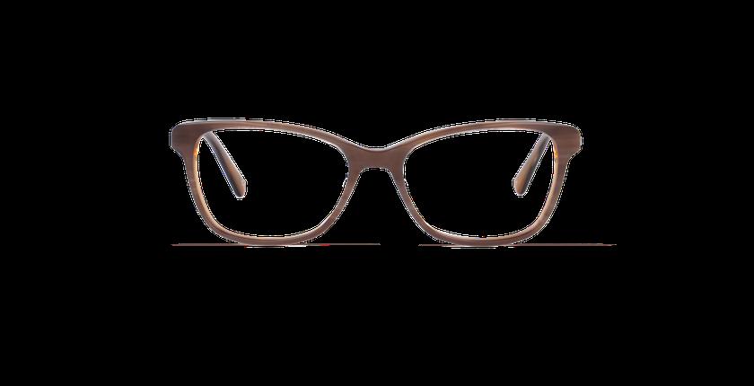 Lunettes de vue femme ONYX marron - Vue de face