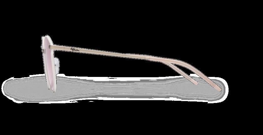 Lunettes de soleil femme MELROSE blanc - Vue de côté