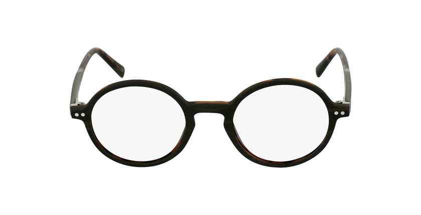 Óculos graduados BERLIOZ BR castanho - Vista de frente