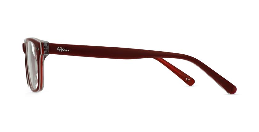 Óculos graduados criança TED RD (TCHIN-TCHIN +1€) vermelho/branco - Vista lateral