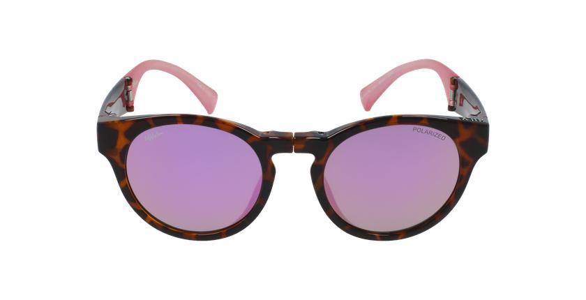 Óculos de sol senhora SLALOM TO tartaruga /rosa - Vista de frente