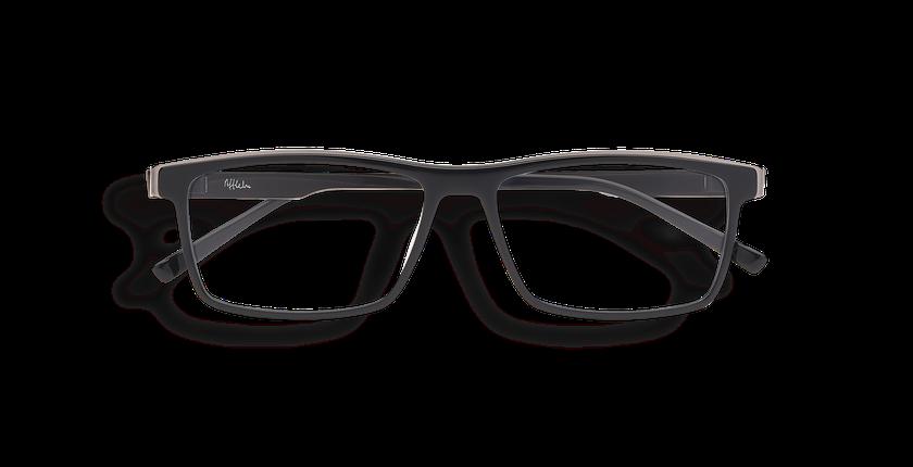 784de5f4340b2 ... Óculos graduados homem ALPHA11 PRETO preto - Vista de frente ...