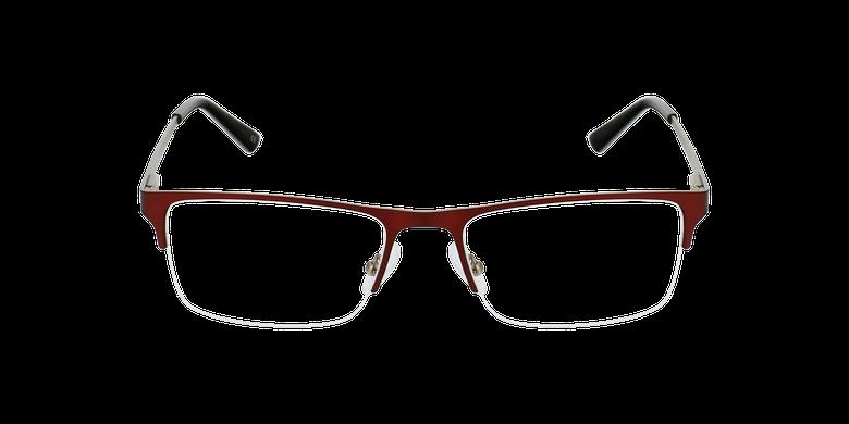 Óculos graduados homem RONALD BU (TCHIN-TCHIN +1€) vermelho/prateado