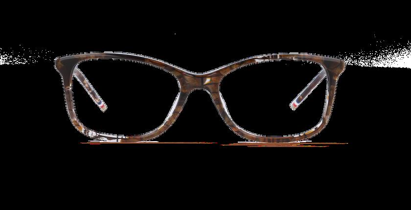 Lunettes de vue femme NIAOULI marron - vue de face