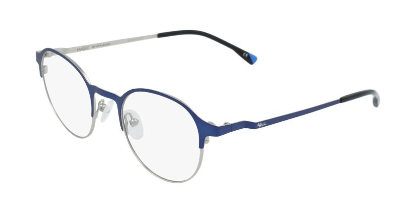 Lunettes de vue homme MAGIC 53 BLUEBLOCK bleu/gris - vue de 3/4