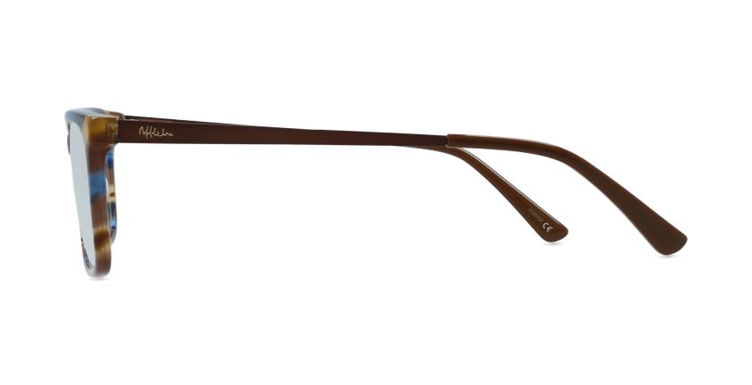 Óculos graduados homem MARC BL (TCHIN-TCHIN +1€) azul/castanho - Vista lateral