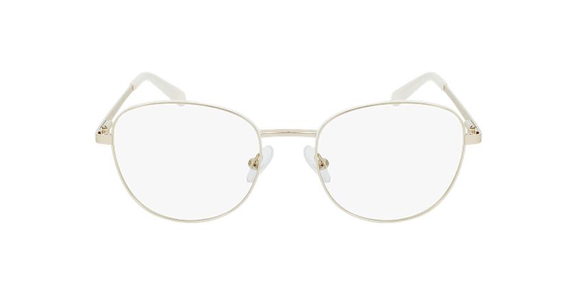 Lunettes de vue femme LISSOU blanc/doré - Vue de face
