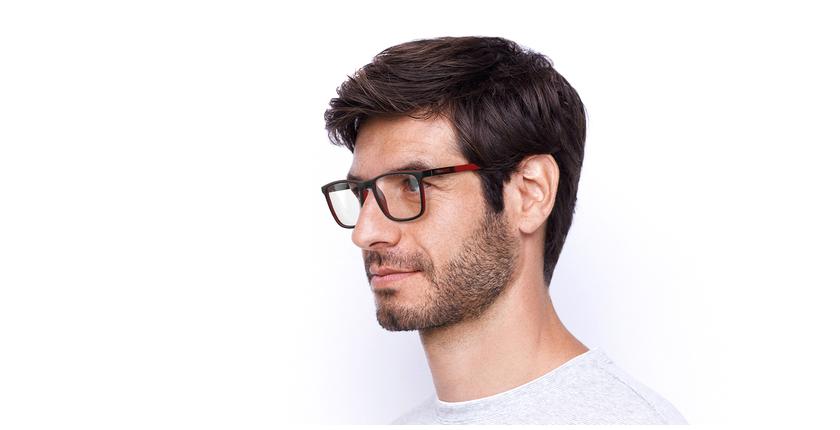 Óculos graduados homem MALO BK (TCHIN-TCHIN +1€) preto/vermelho - vue de 3/4