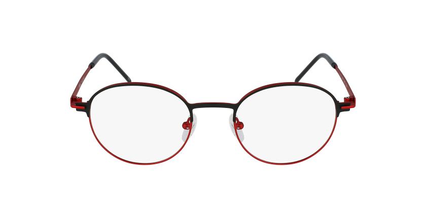 Óculos graduados MARS BKRD preto/vermelho - Vista de frente