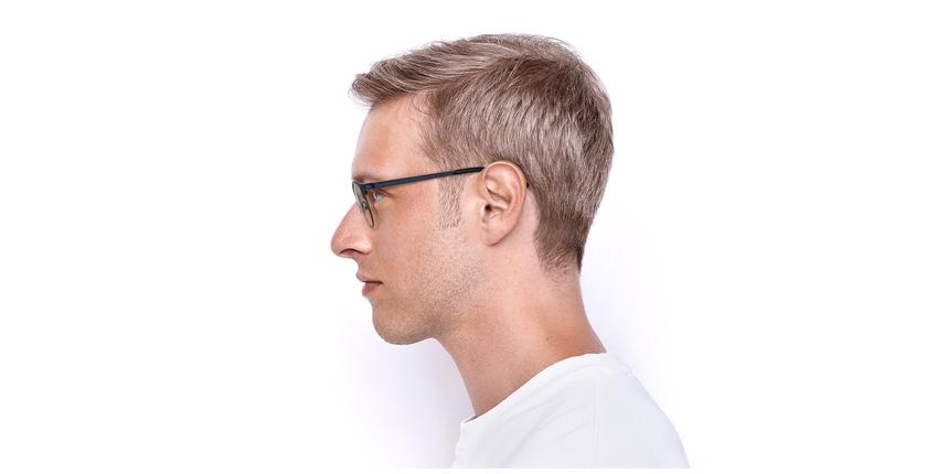 Lunettes de vue homme XAVIER bleu/argenté - Vue de côté