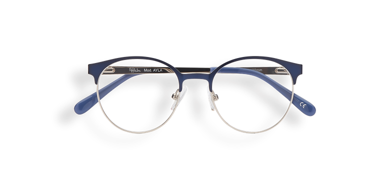 Óculos graduados criança AYLA azul azul/prateado