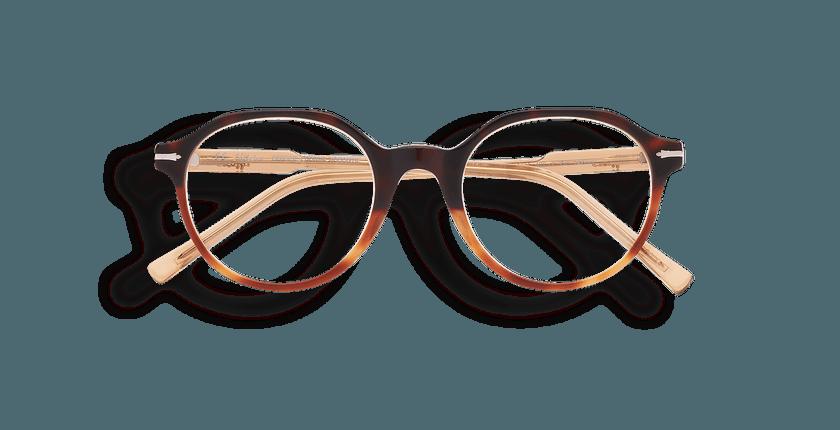 Gafas graduadas hombre MOREZ carey/marrón - vista de frente
