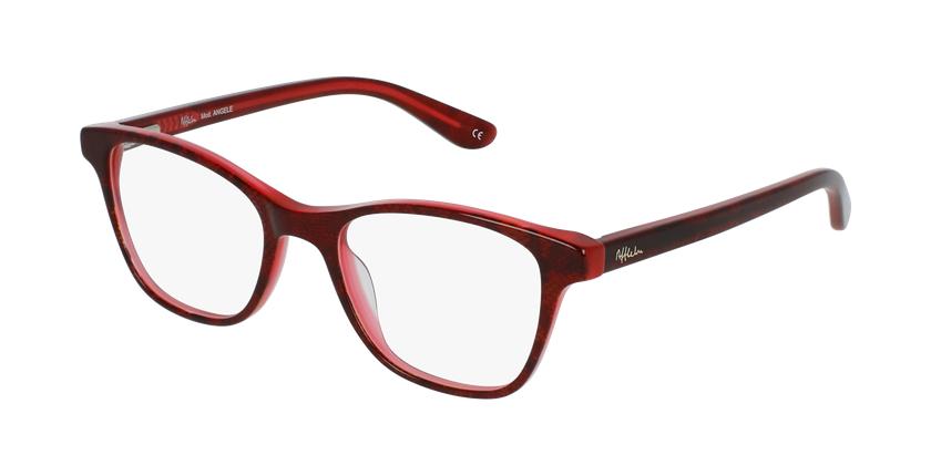 Óculos graduados criança Angele rd (Tchin-Tchin +1€) vermelho - vue de 3/4