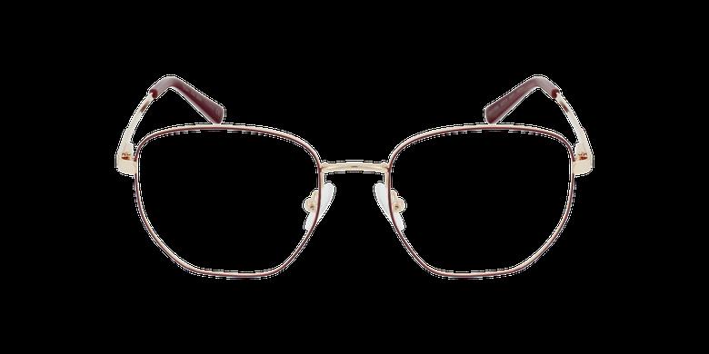Lunettes de vue femme ERIN rouge/doré