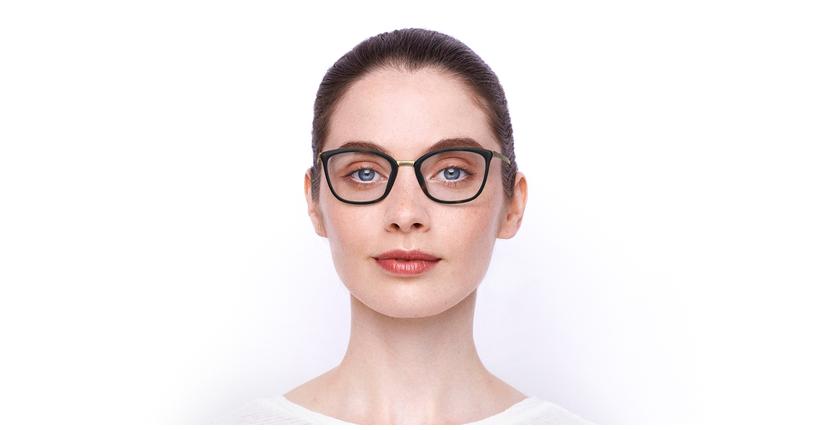Lunettes de vue femme BEETHOVEN doré/écaille - Vue de face