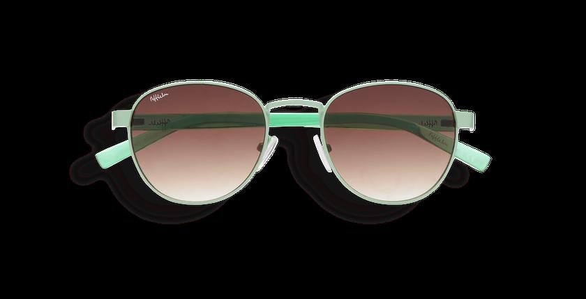 ... Óculos de sol senhora FRUTTI verde - Vista de frente ... 80ceb827f3
