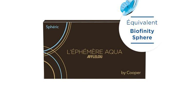 Lentilles de contact Ephémère Aqua Mensuelle Sphere 6L