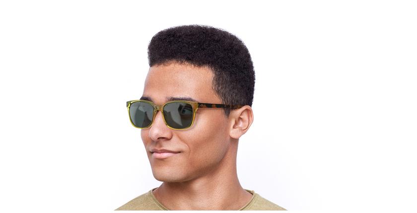 Óculos de sol homem Lee to tartaruga/amarelo - vue de 3/4