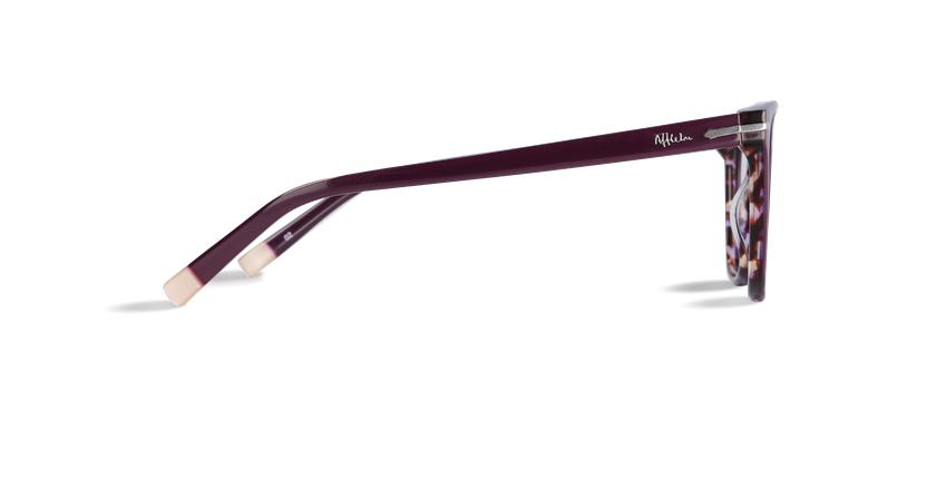 Óculos graduados senhora WINDSOR violeta/tartaruga  - Vista lateral