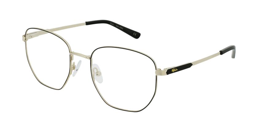 Óculos graduados senhora ERIN BK (TCHIN-TCHIN +1€) preto/dourado - vue de 3/4