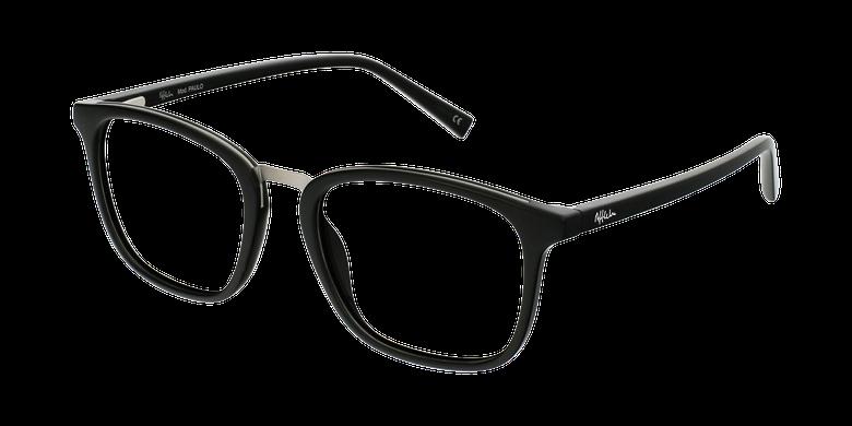 Óculos graduados homem PAULO BK (TCHIN-TCHIN +1€) preto/prateado