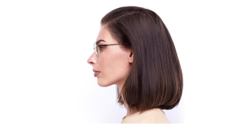 Óculos graduados senhora ERIN BU (TCHIN-TCHIN +1€) vermelho/dourado - Vista lateral