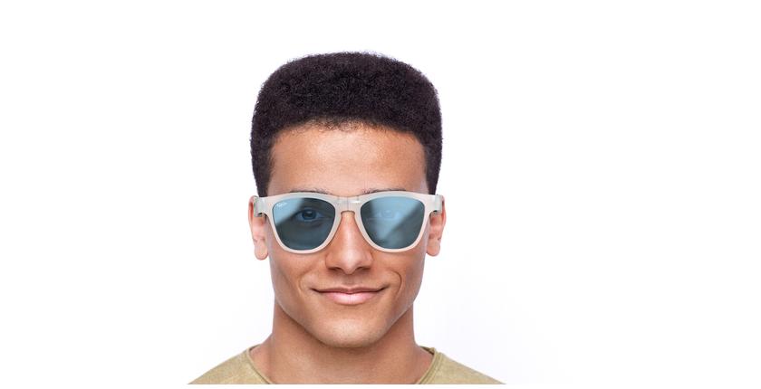 Lunettes de soleil homme GEANT bleu - Vue de face