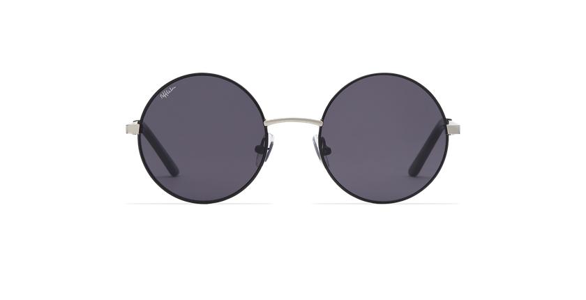 Lunettes de soleil femme HOLA noir/argenté - Vue de face