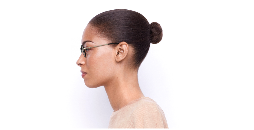 Óculos graduados PUCCINI GD dourado/vermelho - Vista lateral