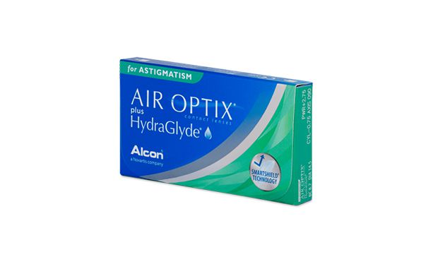 Lentilles de contact Air Optix Plus Hydraglyde For Astigmatism 3L - Vue de face