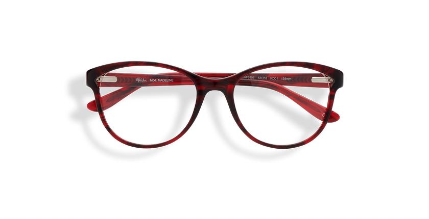 Óculos graduados senhora MADELINE (Tchin-Tchin +1€) vermelho - Vista de frente